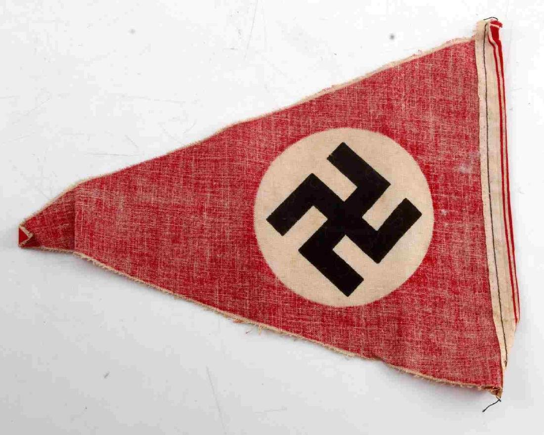 SMALL GERMAN WWII THIRD REICH PARTY PENNANT - 2
