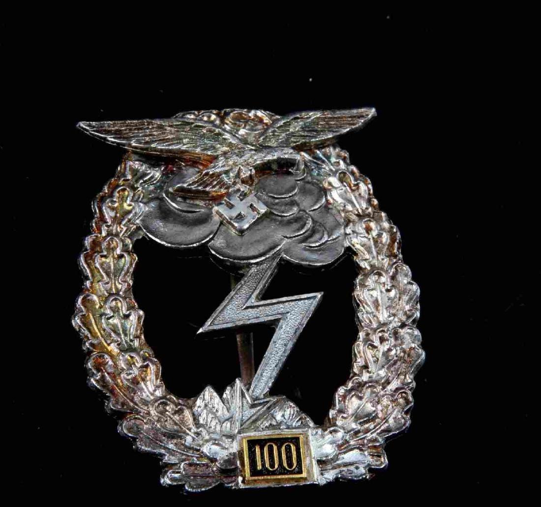 GERMAN WWII LUFTWAFFE 100 GROUND ASSAULT BADGE