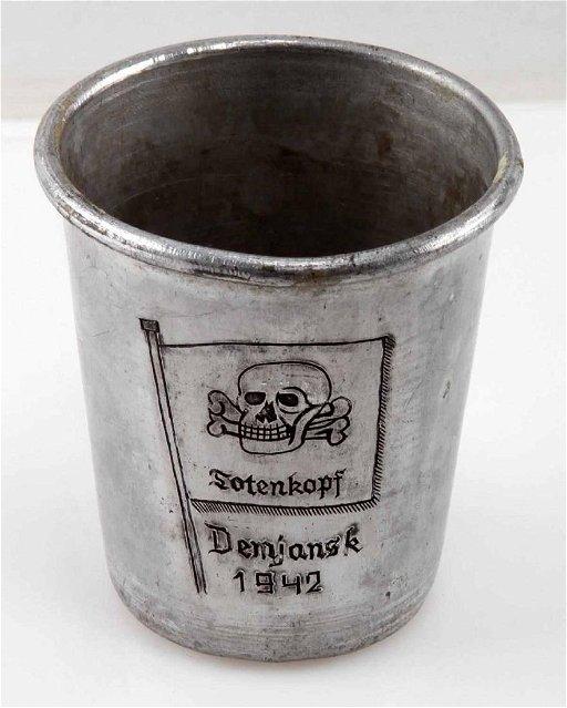 WWII GERMAN THIRD REICH WAFFEN SS TOTENKOPF CUP