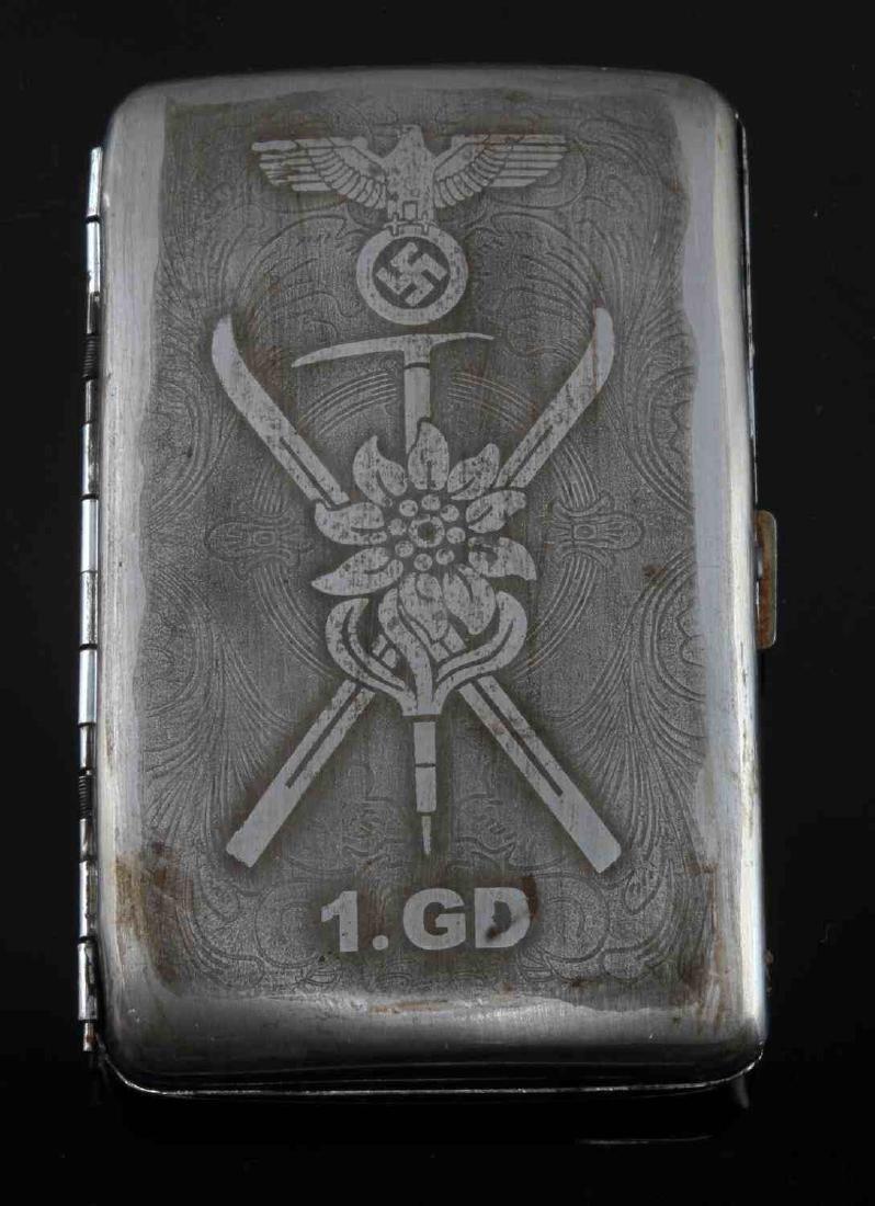 GERMAN WWII THIRD REICH ALPINE CIGARETTE CASE