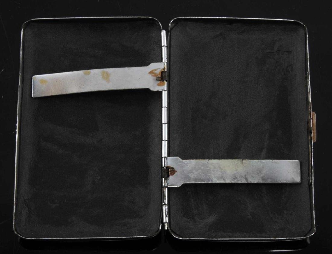 GERMAN WWII THIRD REICH ALPINE CIGARETTE CASE - 3