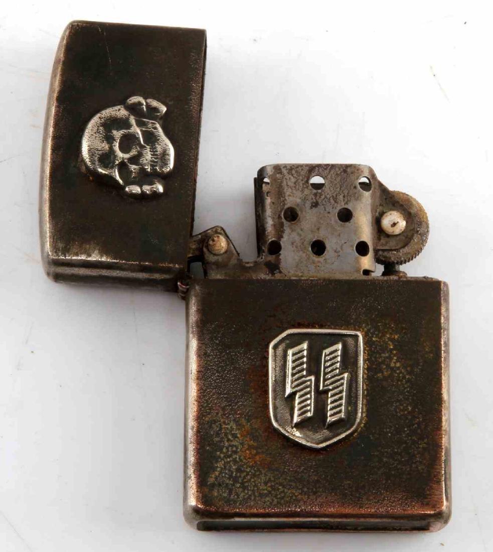 WWII GERMAN WAFFEN SS TOTENKOPF SKULL LIGHTER - 3