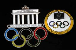 WWII GERMAN THIRD REICH 1936 OLYMPIC GAMES PINS