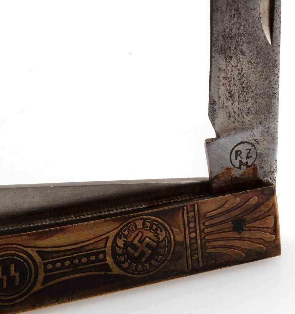 GERMAN WWII THIRD REICH WAFFEN SS POCKET KNIFE RZM - 4