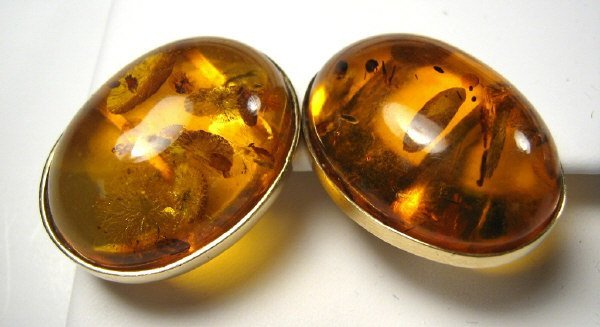 AMBER GOLD EARRING PAIR