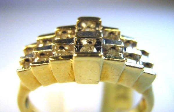 LADIES PYRIMID STYLE DIAMOND RING 1/3 CARAT TOTAL