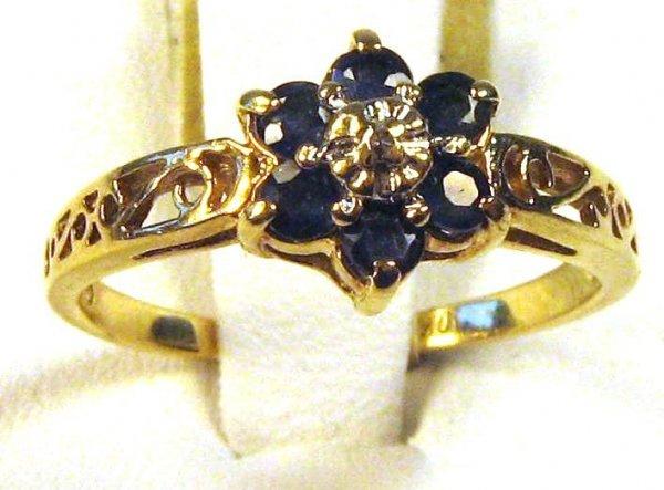 SAPPHIRE DIAMOND FASHION RING