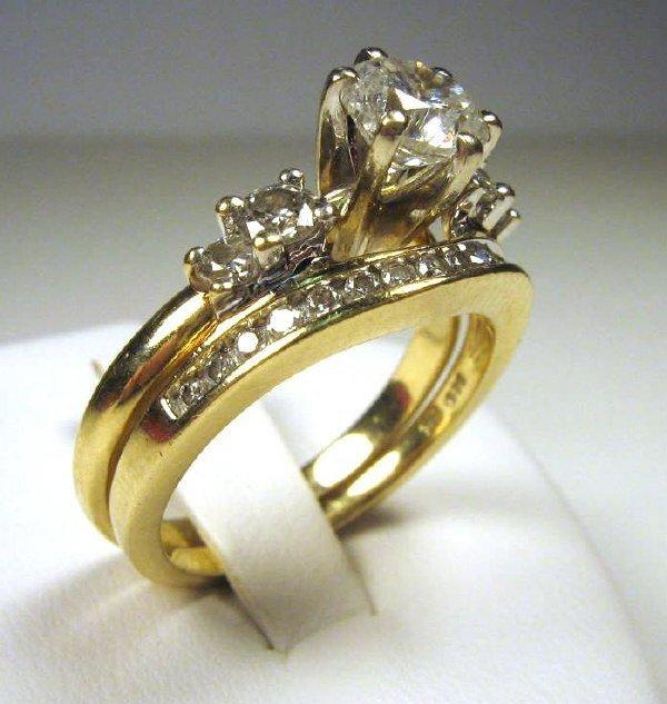 1.00 CT LADIES DIAMOND SOLITAIRE WITH DIAMOND BAND