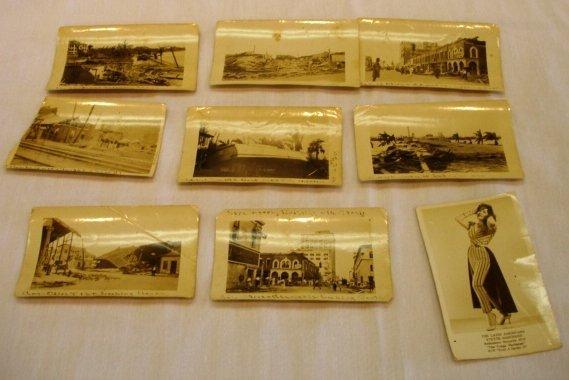 9 ANTIQUE HURRICANE PALM BEACH PHOTO LOT