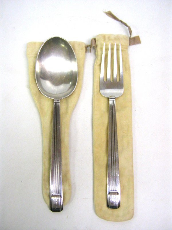 TIFFANY SERVING FORK & SPOON CENTURY STERLING