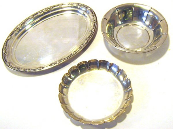 LOT STERLING SILVER BOWLS P.S. WILD ROSE EXEMPLAR