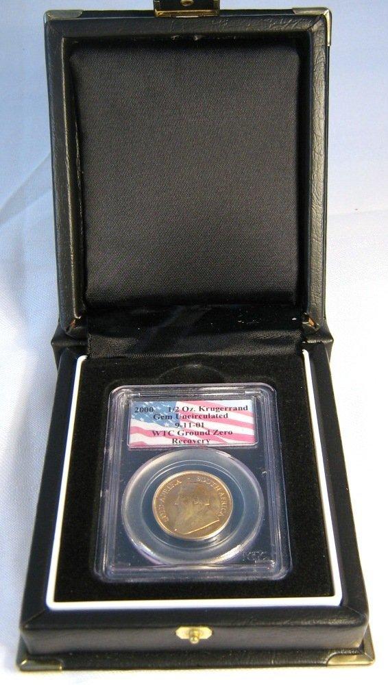 WORLD TRADE CENTER GOLD KRUGERRAND 1/2 OZ COIN