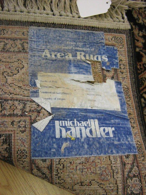 MICHAEL HANDLER 100% WOOL BELGIUM AREA RUG 5 X 7 - 3