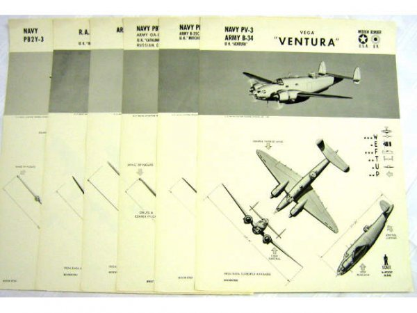 WWII NAVY TRAINING WEFTUP ID POSTERS ALLIED PLANES - 2