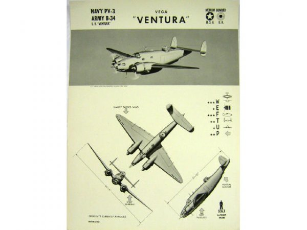 WWII NAVY TRAINING WEFTUP ID POSTERS ALLIED PLANES - 3