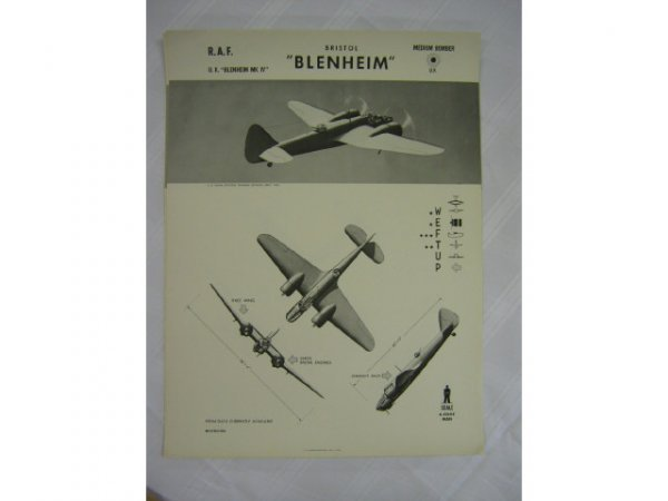 WWII NAVY TRAINING WEFTUP ID POSTERS ALLIED PLANES - 7