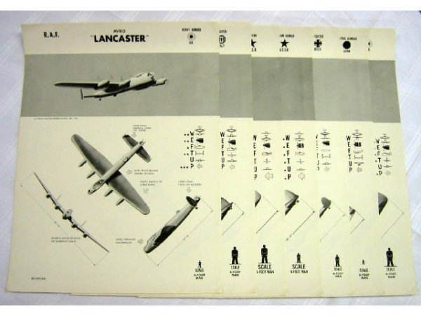7 WWII WEFTUP ID POSTERS USSR ITALY UK JAPAN REICH