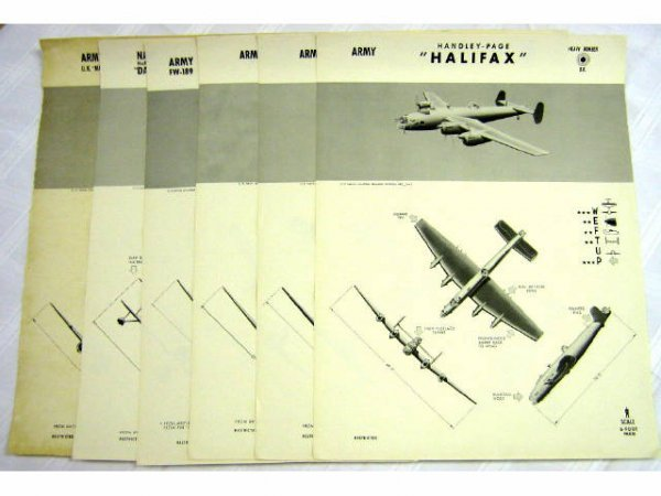 6 WWII NAVY WEFTUP ID POSTERS AXIS AND ALLIED