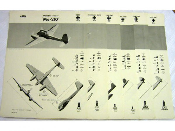 SIX 1942 44 WWII US NAVY ID WEFTUP REICH POSTERS