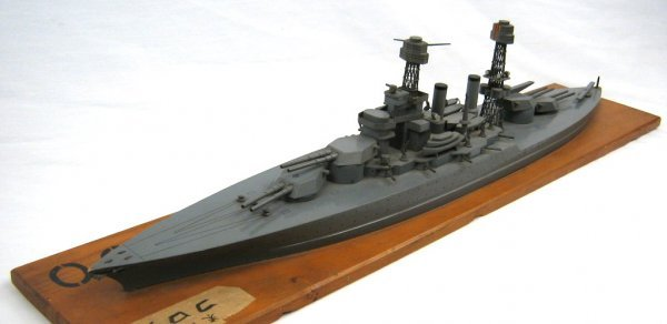 RARE WWII JAPANESE ID SPOTTER MODEL USS COLORADO