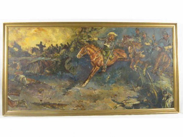 INDIAN WARS 7TH CAVALRY ORIGINAL PAINTING