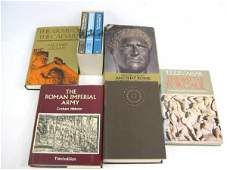 LOT OF 6 BOOKS ON THE RISE AND FALL OF ROME