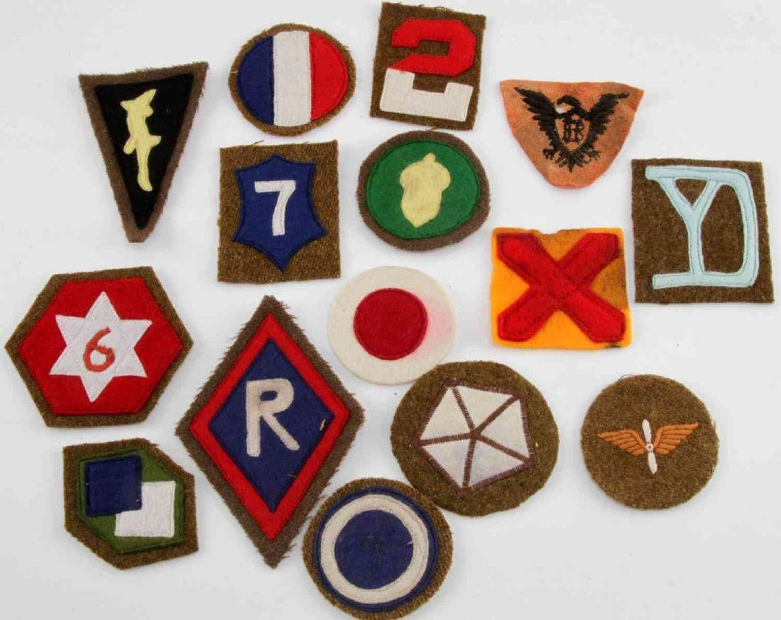 15 US MILITARY WWI AND WWII UNIT SHOULDER PATCH