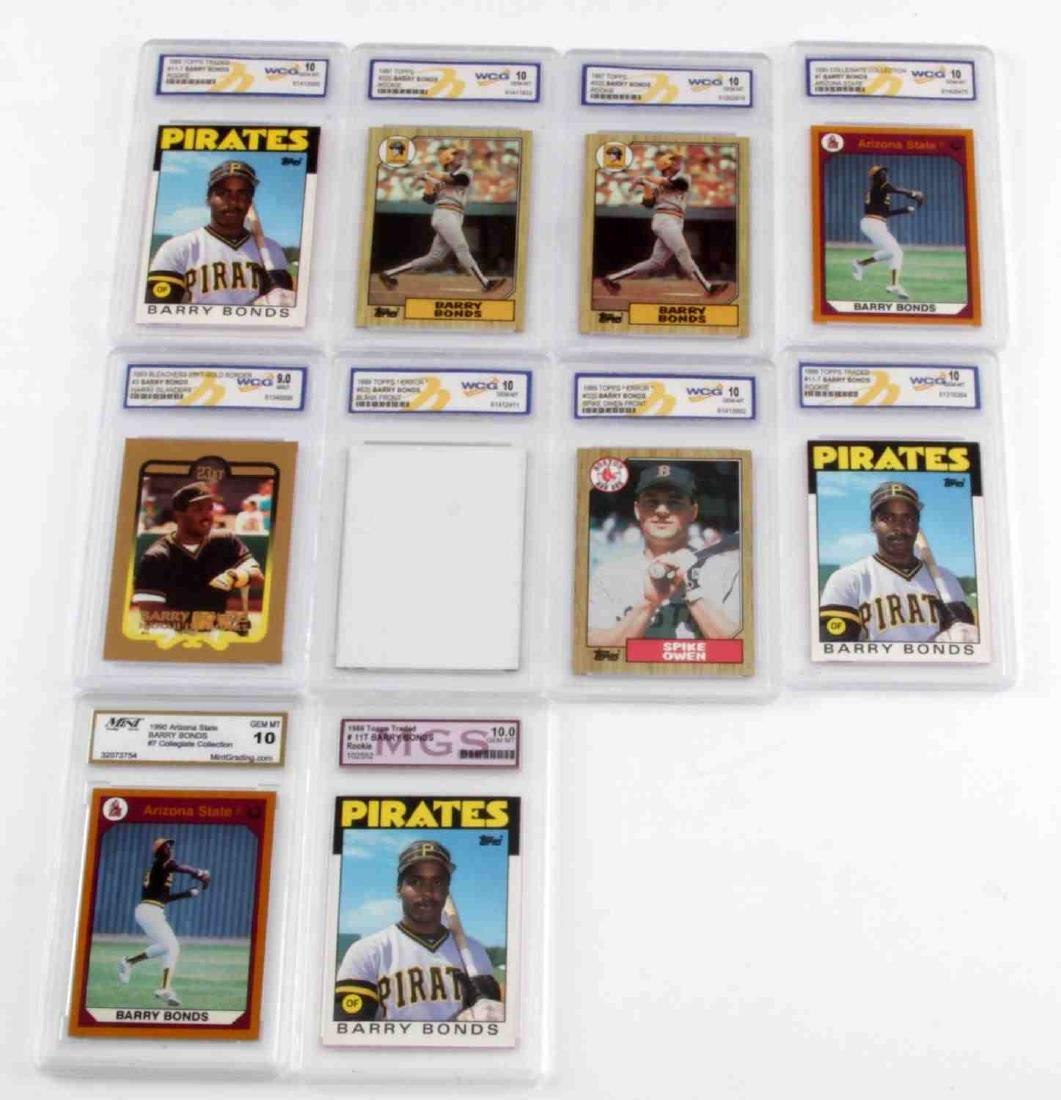Barry Bonds 10 Baseball Card Lot Rookie Missprint