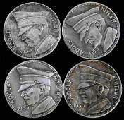 GROUP OF 4 GERMAN WWII THIRD REICH COINS NSDAP
