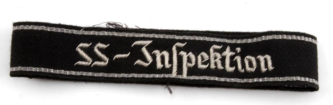 WWII GERMAN 3RD REICH SS INSPECTION U. CUFF TITLE