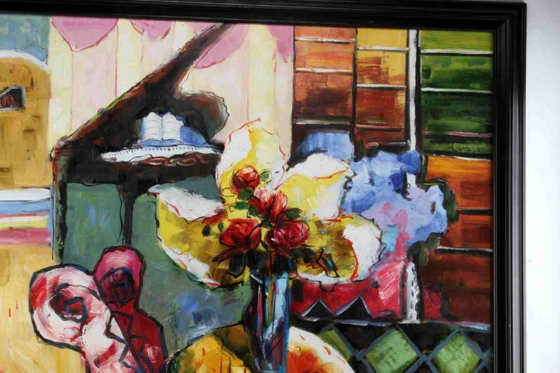 ABSTRACT EXPRESSIONST STILL LIFE OIL PAINTING - 2