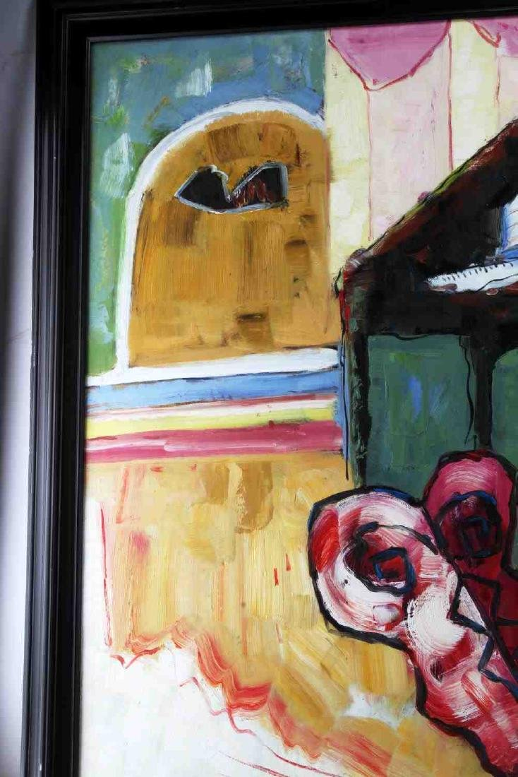 ABSTRACT EXPRESSIONST STILL LIFE OIL PAINTING - 3