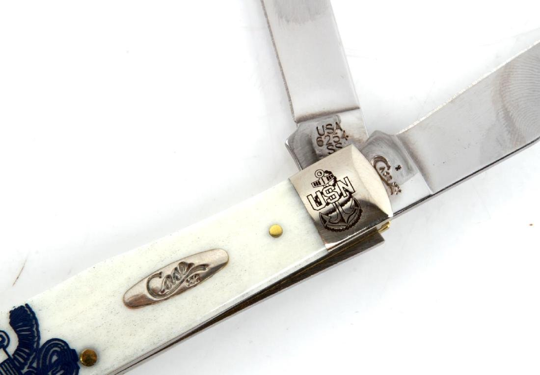 CASE XX US NAVY BONE TRAPPER KNIFE - 2