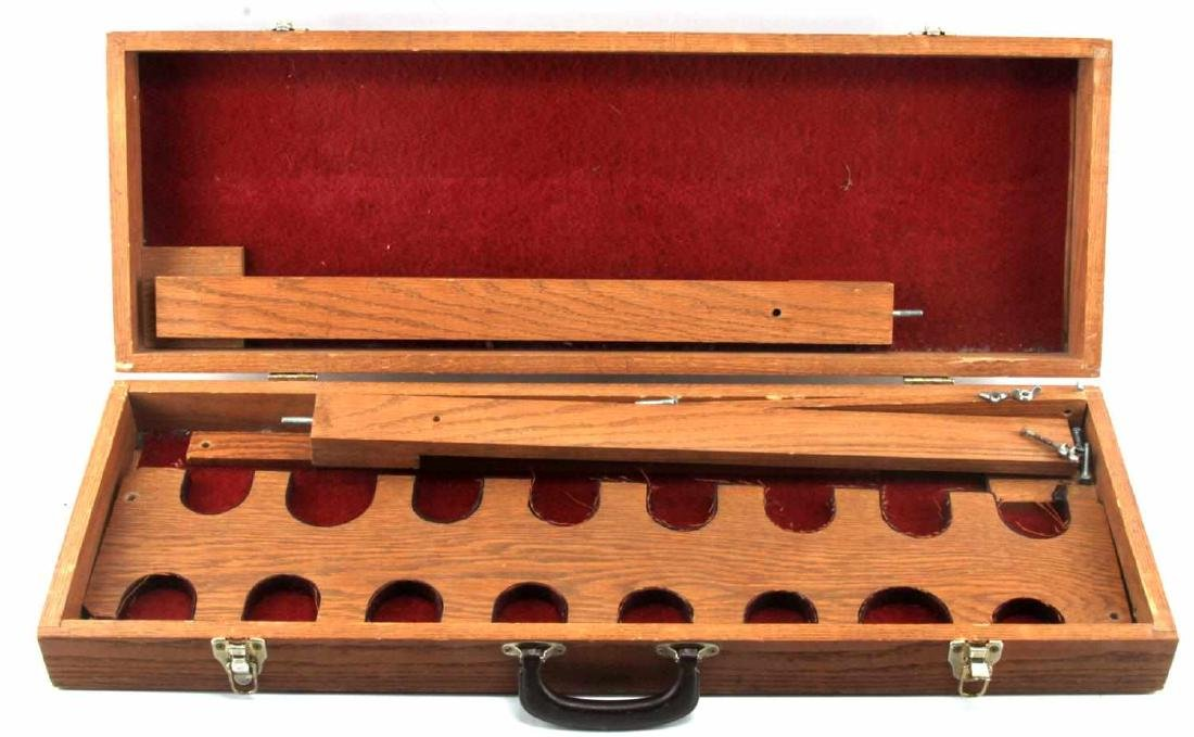 FOLDABLE WOODEN RIFLE STORAGE CARRY CASE PORTABLE