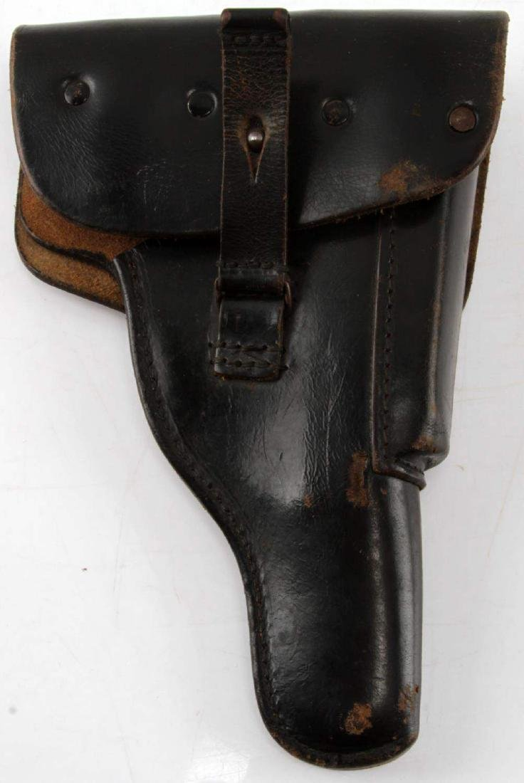 WWII GERMAN P-38 BLACK LEATHER HOLSTER