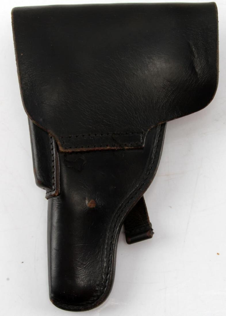 WWII GERMAN P-38 BLACK LEATHER HOLSTER - 2