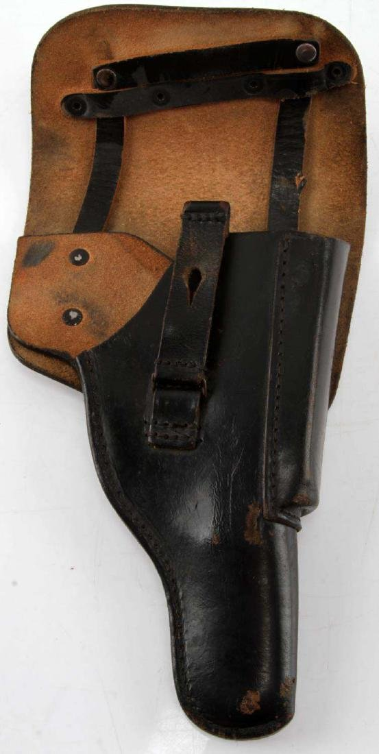WWII GERMAN P-38 BLACK LEATHER HOLSTER - 3