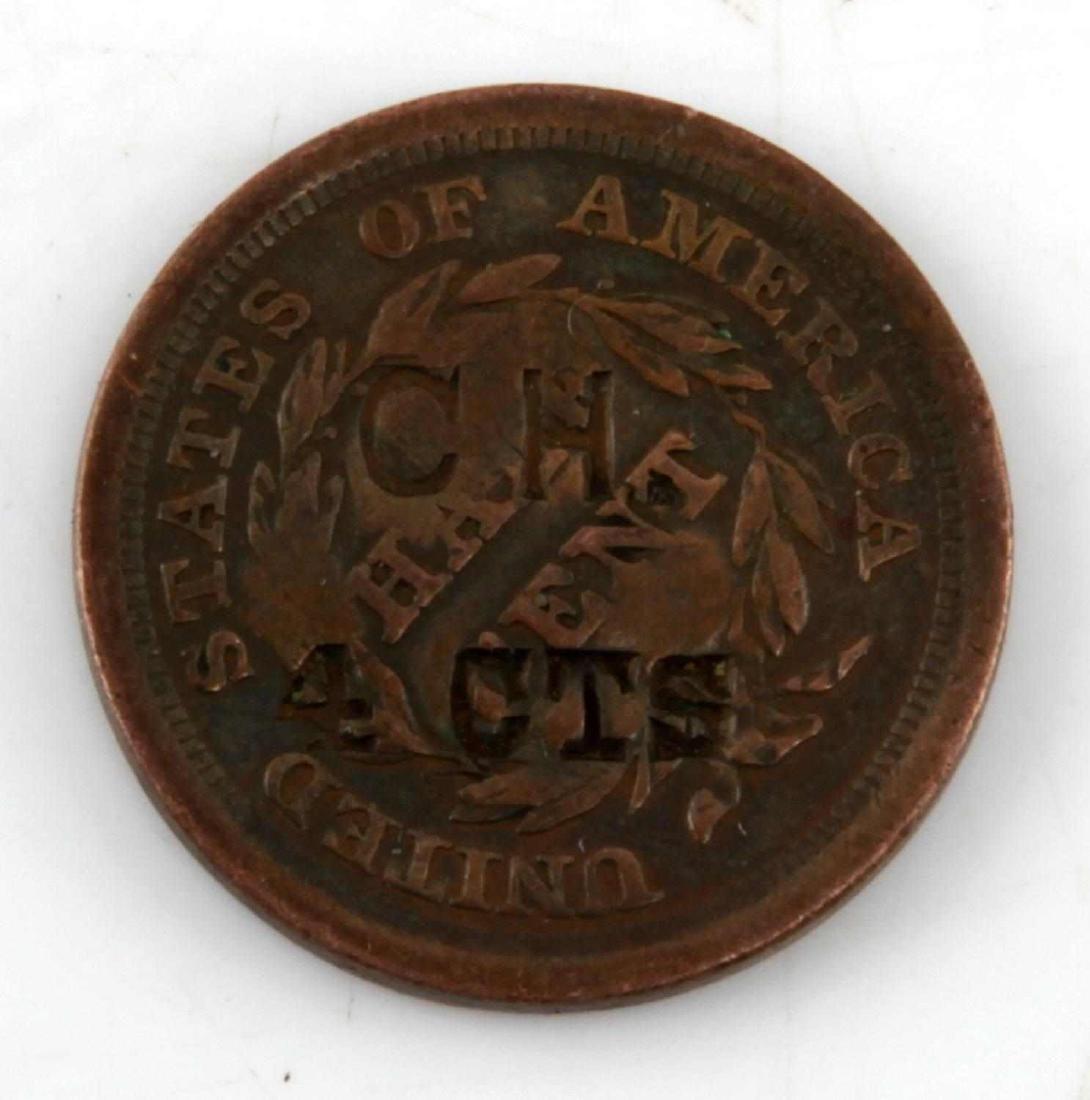 1855 COPPER U.S. HALF CENT TOKENIZED TOKEN - 2