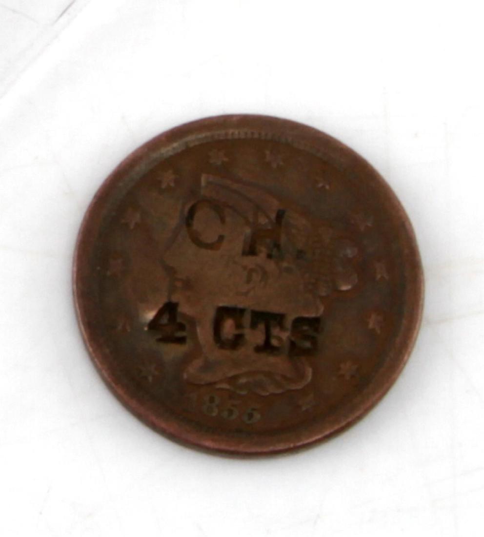 1855 COPPER U.S. HALF CENT TOKENIZED TOKEN - 4