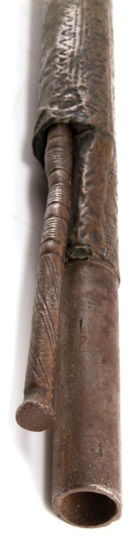 ANTIQUE BEDOUIN ARAB VICTORIAN SIDE PLATE MUSKET - 6