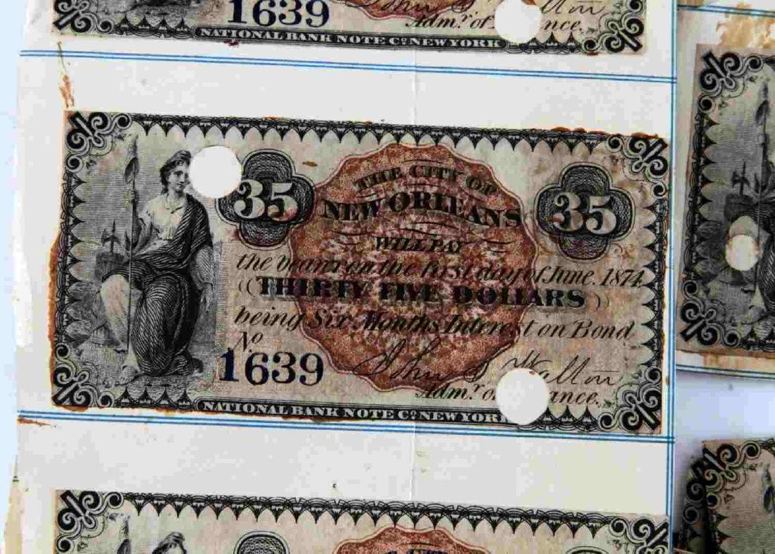 CITY OF NEW ORLEANS BOND COUPON LOT OF 20 - 2