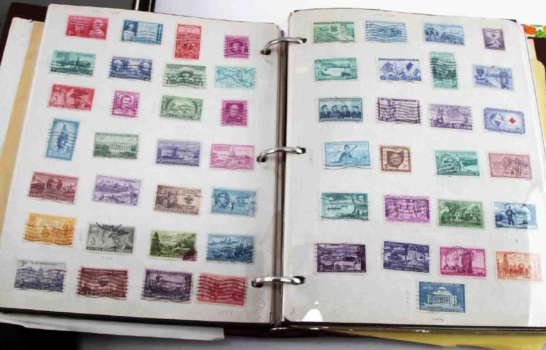 12 BINDERS OF U.S. & WORLD STAMP ISSUES 1978 - 7