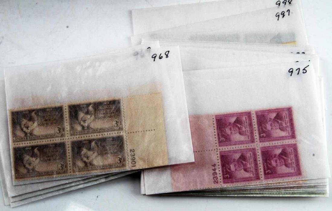 OVER $600 FACE VALUE OF U.S. PLATE BLOCK STAMPS - 2