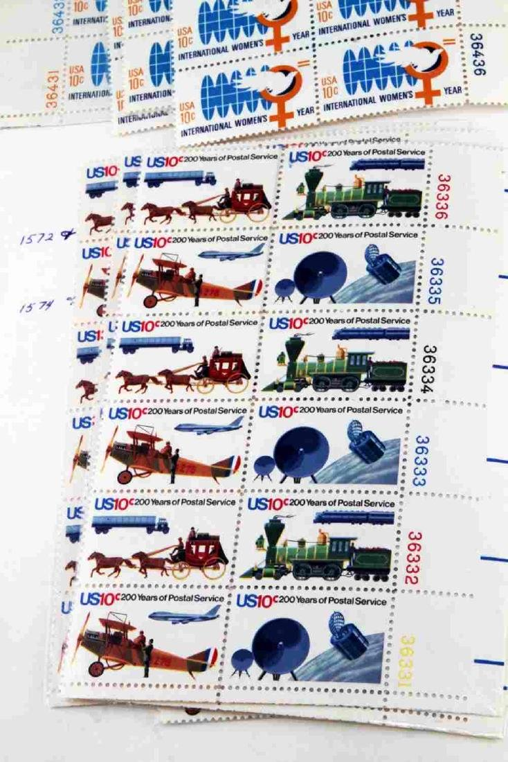OVER $600 FACE VALUE OF U.S. PLATE BLOCK STAMPS - 4