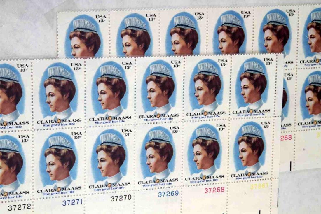 OVER $600 FACE VALUE OF U.S. PLATE BLOCK STAMPS - 5