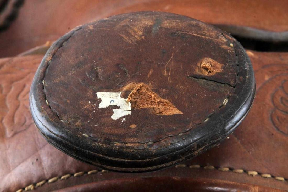 20TH CENTURY WESTERN STYLE TOOLED LEATHER SADDLE - 5