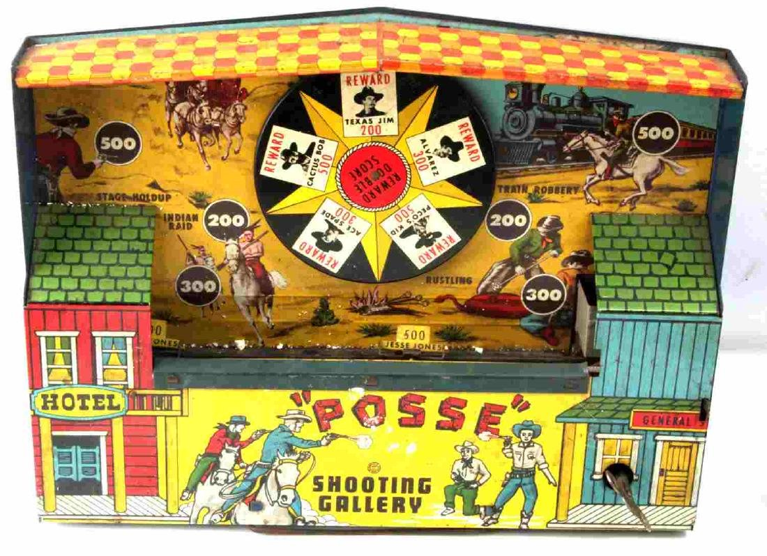 ANTIQUE TOYS PIERCE ARROW POSSE SHOOTING GALLERY - 2