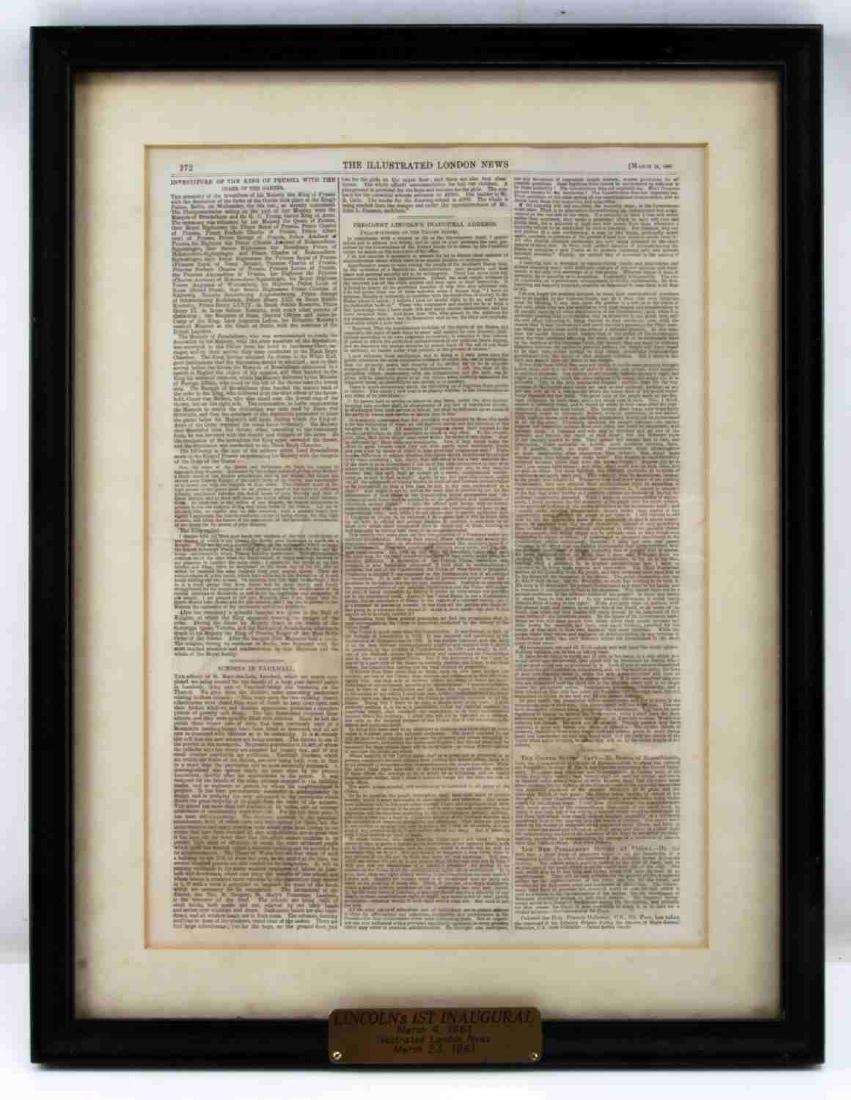 LONDON NEWS 1861 LINCOLN & GLACIER GIRL P38 PHOTO - 8