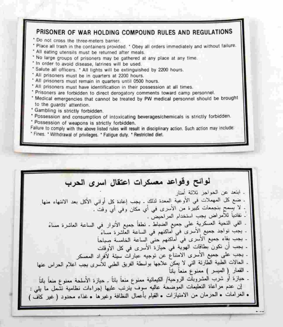 US MILITARY IRAQ WAR POW RULES & REGULATIONS - 4