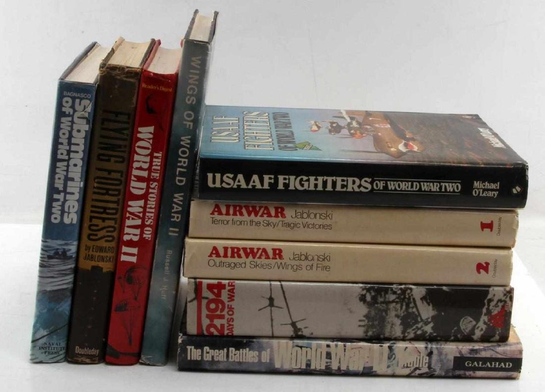 9 WWII MILITARY HISTORY BOOK LOT SUBMARINES USAAF